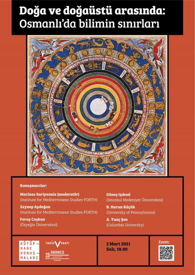 ANAMED Kütüphanesi ve Tarih Vakfı ortaklığında düzenlenen ANAMED Kütüphane Konuşmaları'nın Mart ayındaki konuğu Marinos Sariyannis, Zeynep Aydoğan, Feray Coşkun, Güneş Işıksel, B. Harun Küçük ve A. Tunç Şen – GHOST projesi