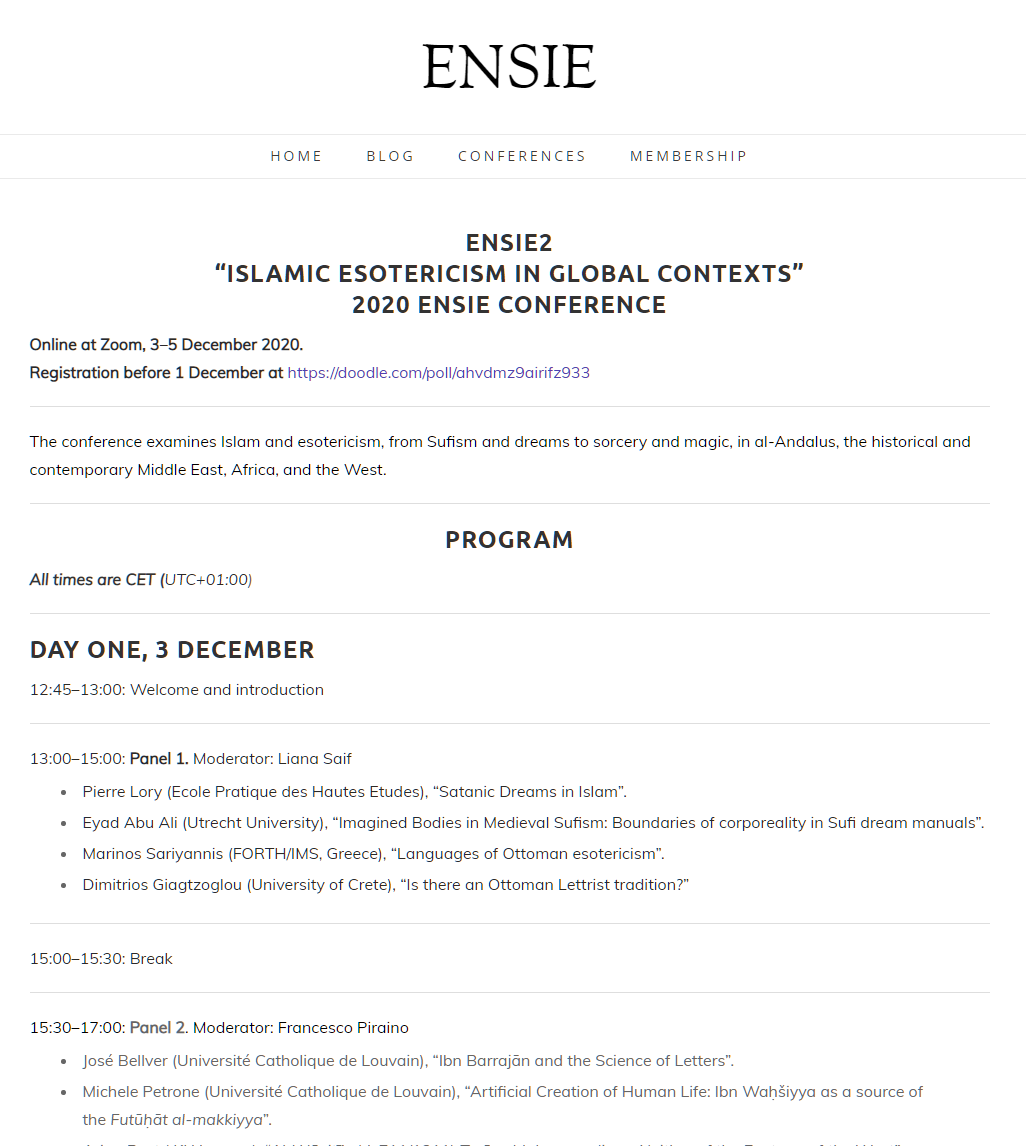 GHOST at the ENSIE Conference